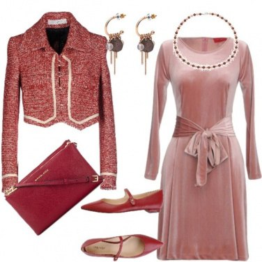 Outfit Donna Rosa antico