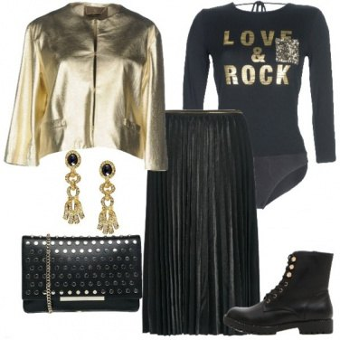 Outfit Rock gold