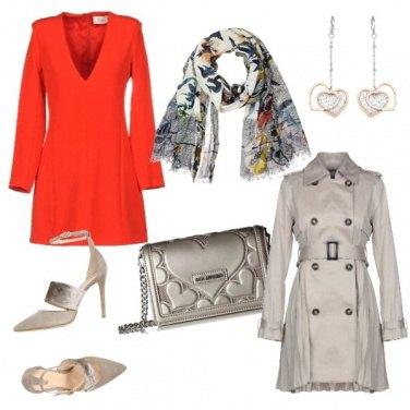 Outfit Minidress rosso di sera