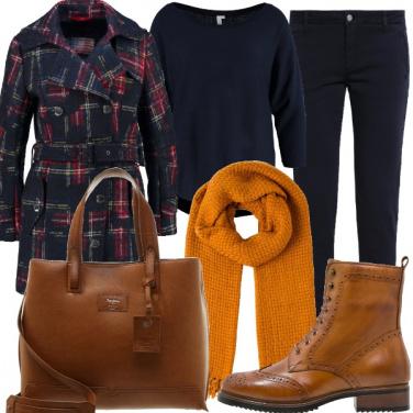 Outfit Il tweed scozzese da giorno