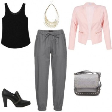 Outfit Blazer rosa/Light pink blazer