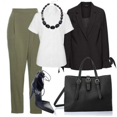 Outfit Il pantalone verde oliva