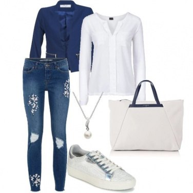 Outfit Blu & white