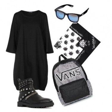 Outfit Uno zaino in città