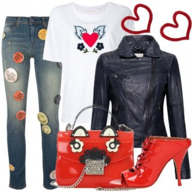 Outfit Spille e cuori