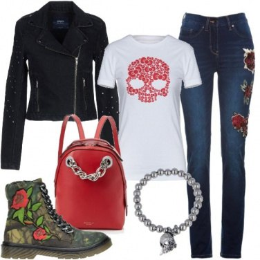 Outfit Skull and roses