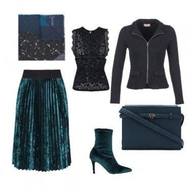 Outfit Plisse vellutato