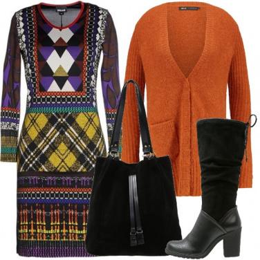 Outfit Il tubino colorato