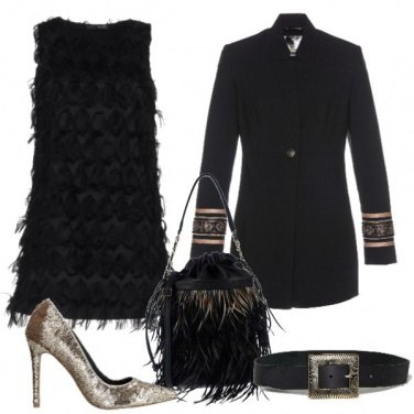 Outfit Frange e dettagli gold