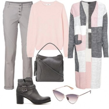 Outfit Pink and Grey