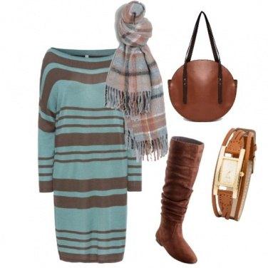 Outfit Abito morbido verso l\'autunno