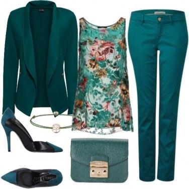 Outfit Variazioni di verde