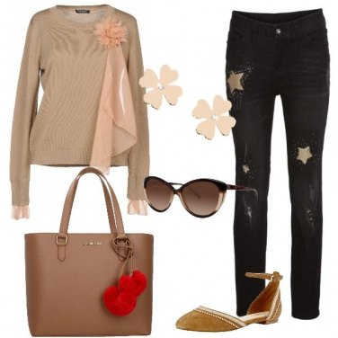 Outfit Jeans e ballerine
