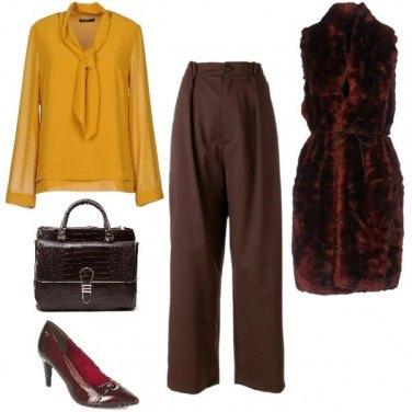 Outfit Burgundy/Ocra/Marrone