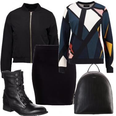 Outfit La felpa geometrica