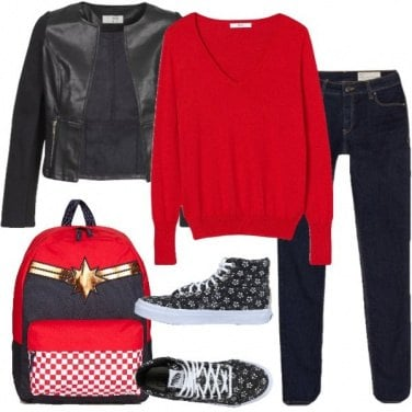Outfit A scuola con Vans