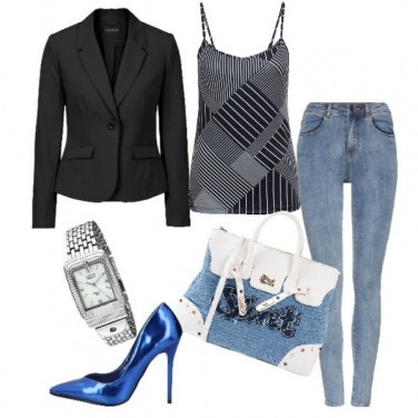 Outfit Blazer business e jeans