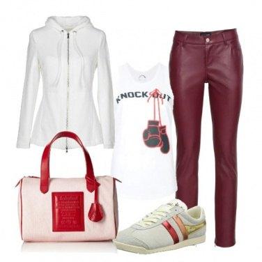 Outfit Felpa e top per l\'inverno