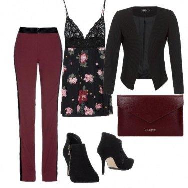 Outfit Il pantalone bicolor