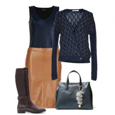 Outfit Longuette di Pelle