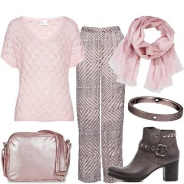 Outfit Pink & brown