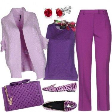 Outfit Accenti diversi di viola