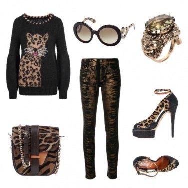 Outfit Maglione con il gattopardo