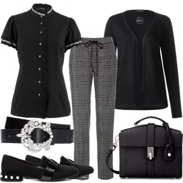 Outfit Mannish in black