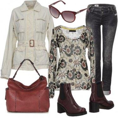 Outfit Un tocco di bordeaux
