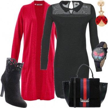 Outfit Rosso geranio