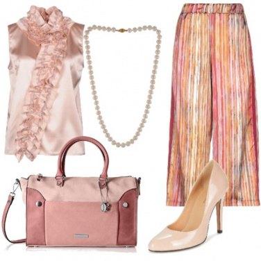 Outfit Raso e perle