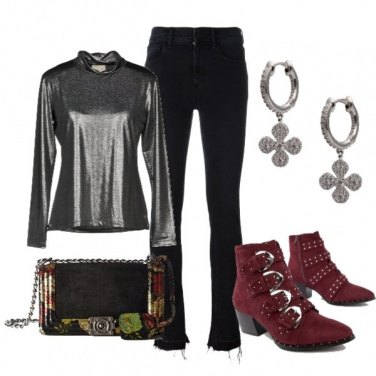 Outfit Rock and glam