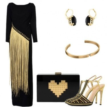 Outfit Gold fringe