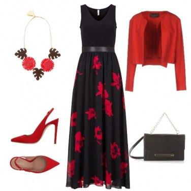 Outfit Matrimonio in rosso e nero