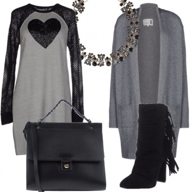 Outfit Cuore nero