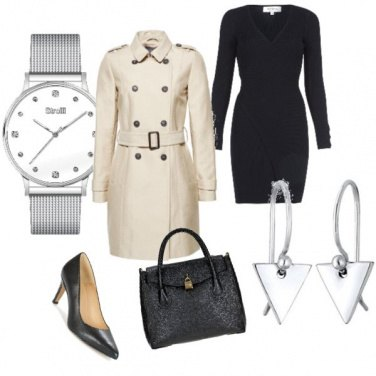Outfit Il trench bianco