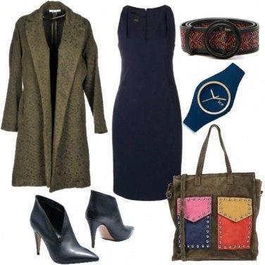 Outfit Minimal in blu e verde