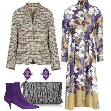 Outfit Viola e fiori