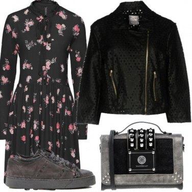 Outfit Autumn flower dress