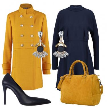 Outfit Blu ed ocra