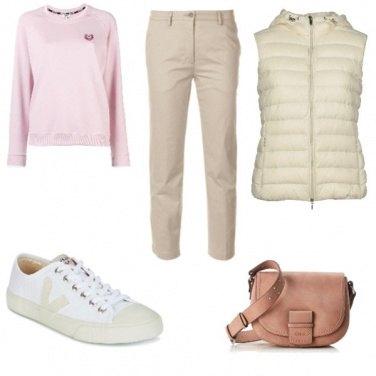 Outfit Felpa rosa