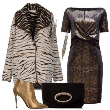 Outfit Bronzo con animalier