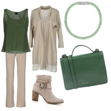 Outfit Quel tocco di verde