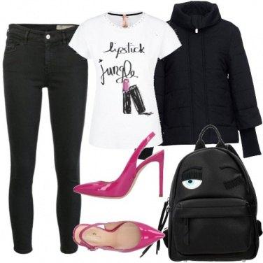 Outfit Tacchi e zaino