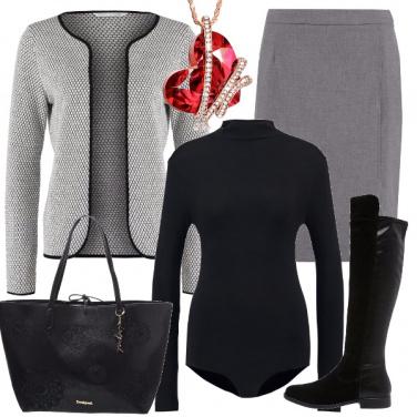 Outfit A tutto grigio
