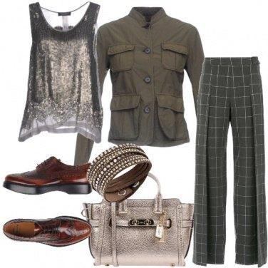Outfit Pantaloni quadretti