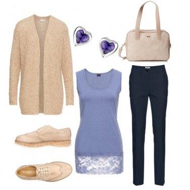 Outfit Mannish con pizzo e cuori