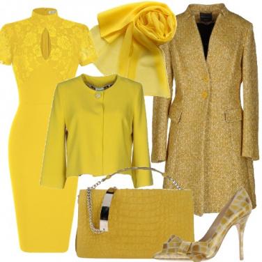 Outfit Vibrazioni di fascino in giallo