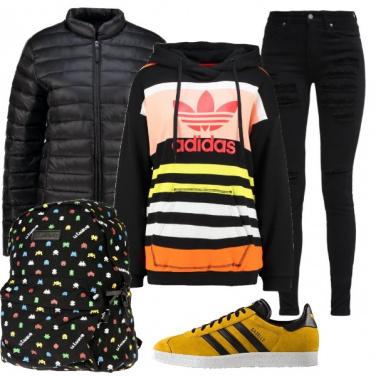 Outfit A scuola all\'università o a passeggio
