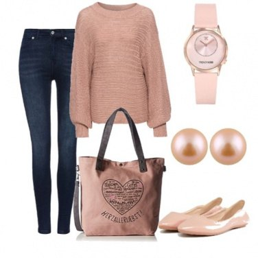 Outfit Rosa oversize